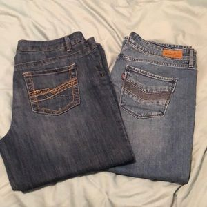 Two pairs of capris size 12